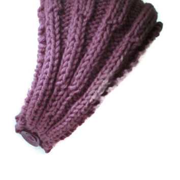 Ear warmer Plum Knit Stretchy Headband  Boho
