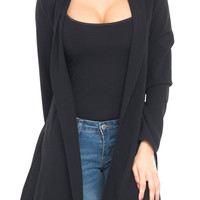 LONG SLEEVE DUSTER WITH SIDE SLITS - SALE