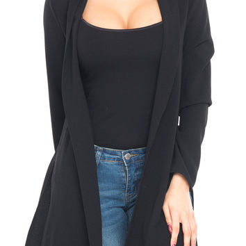 LONG SLEEVE DUSTER WITH SIDE SLITS
