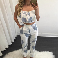 Summer Sexy Overalls  Two Piece Sets Vintage