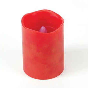 """6 Flameless Pillar Candles - Battery Operated Candles Have Timers Which Can Be Set For 4 Or 8 Hours Of  """" Burn """"  Time"""