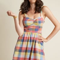 Conservatory Chic A-Line Dress in Madras