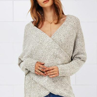 Cupshe Important Invitee Cross Plunging Sweater