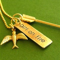 Girl on Fire Hunger Games Necklace - Spiffing Jewelry