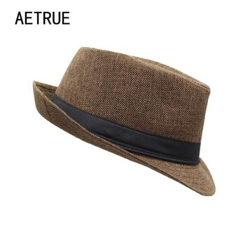 Men's Felt Wide Brim Fedora Hat by Aetrue