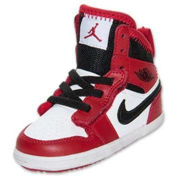 DCK7YE Girls' Toddler Jordan 1 Skinny High Top Basketball Shoes