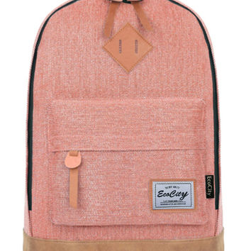 EcoCity Classic Vintage College School Laptop Backpack ( FREE 2 DAYS SHIPPNG )
