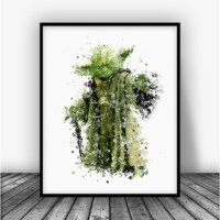 Star Wars Yoda Art Print Poster