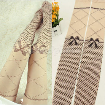 High Quality Bow Tattoo Pattern Leggings