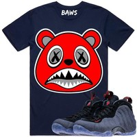ANGRY BAWS Navy Blue Shirt - Denim Foamposites
