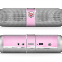 The Vintage Gray & Pink Texture Skin for the Beats by Dre Pill Bluetooth Speaker