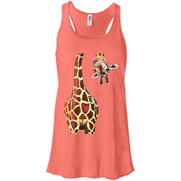 Giraffe april 2  Bella + Canvas Flowy Racerback Tank