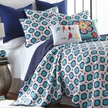 Reed Geo Print Luxury Quilt Collection - Bed & Bath | Stein Mart