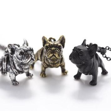 Frenchie animal necklace for women