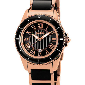 Folli Follie Ladies Black Ceramic Sport Watch