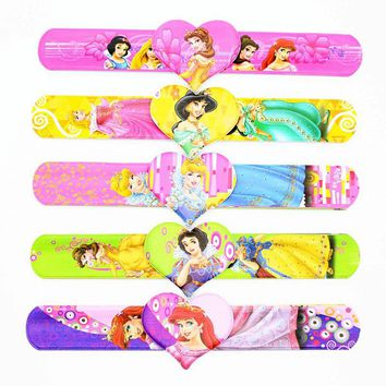 12PCS, Princess Slap Bracelets, Baby Shower, Souvenirs Favors