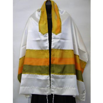Prayer Shawl Tallit Yellow Orange