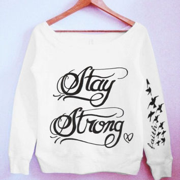 Demi Lovato Stay Strong Tattoo Sweater