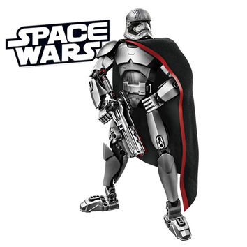 KSZ Star Wars 7 Minifigures Captain Phasma Rey Poe Dameron Finn Figure toys building blocks compatible legoe