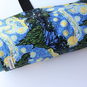Yoga Bag, Yoga Mat Carrier, Starry Night, Van Gogh, Blue, Yoga Mat Tote, Yoga Mat Sack