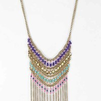Nirvana Beaded Bib Necklace - Gold One
