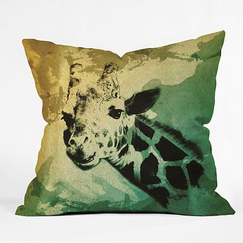 Allyson Johnson African Giraffe Throw Pillow