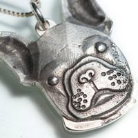 French Bulldog Necklace Jewelry Sterling Silver Frenchie Pendant Personalized