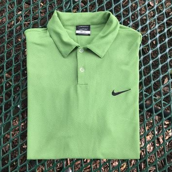 Nike Golf Men's Green Polo Shirt, Size Large