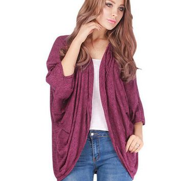 Loose pure wild random cardigan blue-1
