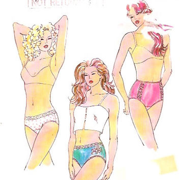 Underwear Sewing pattern Lingerie sewing pattern panties pattern Kwik Sew 2100 Size 4 to 13 UNCUT