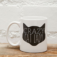 Tickled Teal Crazy Cat Lady Mug