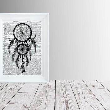 Native American print Ethnic decor Dreamcatcher poster   TO13