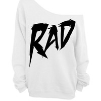 Rad - White Slouchy Sweater - CREW