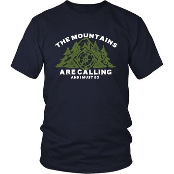 The Mountains are Calling and I Must Go - Unisex Tee