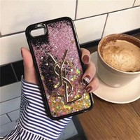 DCCK YSL Fashion Luxury Supreme Sliver Mirror Case For iPhone 8 8Plus 7 7Plus 6 6s 6Plus 6s Plus FREE SHIPPING