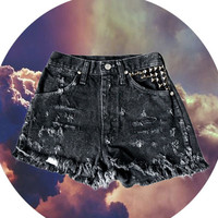 90's High Waisted Distressed Cut off by FeelingVagueVintage