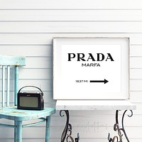 Prada Marfa, Fashion Art B+W