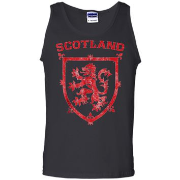 Scotland Royal Coat of Arms King of Scots Red Lion Tank Top