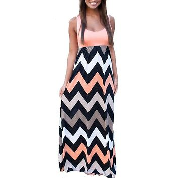 LASPERAL 2017 Women Summer Beach Boho Maxi Dress 2016 High Quality Brand Striped Print Long Dresses Feminine Plus Size