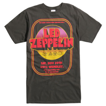 Led Zeppelin 1971 Wembley Poster T-Shirt