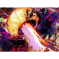 The Mushroom Tree - Trippy Poster & Canvas - Framed or Unframed