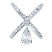 Sterling Silver CZ Criss Cross RingBe the first to write a reviewSKU# R1077-01