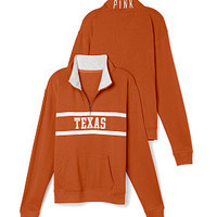 University of Texas Boyfriend Half Zip - PINK - Victoria's Secret