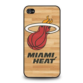 MIAMI HEAT LOGO WOODEN iPhone 4 / 4S Case Cover