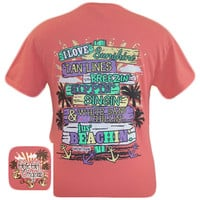 Girlie Girl Originals Just Beachin Summer Beach Bright T Shirt