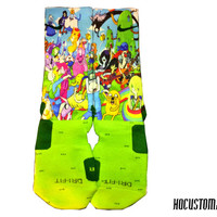 Adventure Time Custom Nike Elite Socks ALL SIZES!!