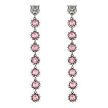 Gucci EARRINGS COLORED CRYSTALS, METAL & CRYSTAL, 95MM