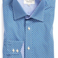 Men's Ted Baker London 'Wye' Trim Fit Geo Dress Shirt