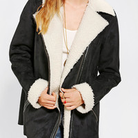 Urban Outfitters - Staring At Stars Oversized Sherpa Moto Jacket