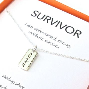 Survivor Charm Necklace Set